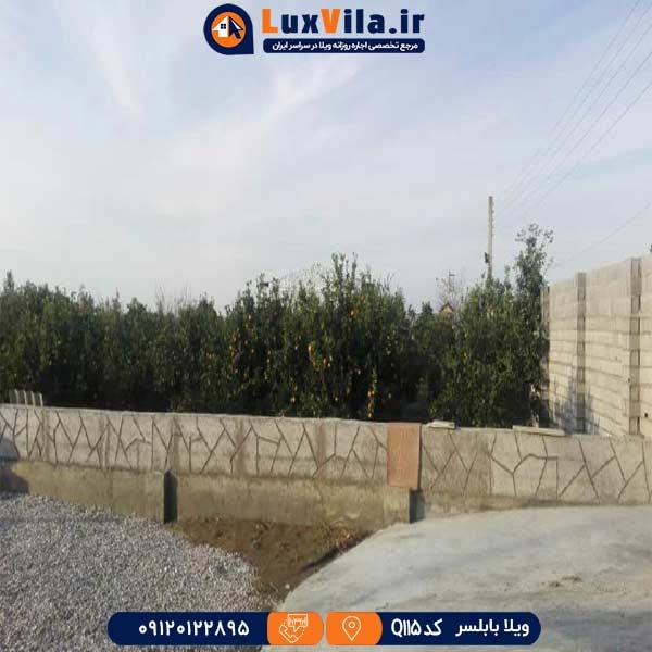 اجاره باغ ویلا در بابلسر Q115